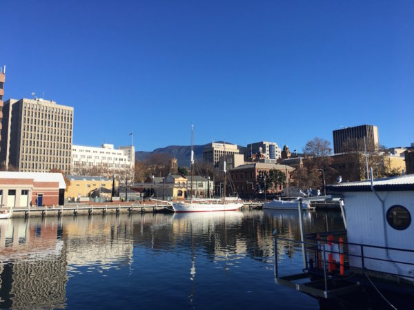 hobart waterfront mount wellington
